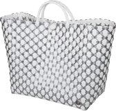 Handed By Tas Lima - wit met zilver patroon