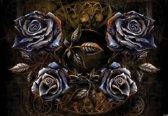 Fotobehang Alchemy Roses Tattoo | DEUR - 211cm x 90cm | 130g/m2 Vlies