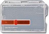 Kaarthouder met rode schuifregelaar (10 stuks)