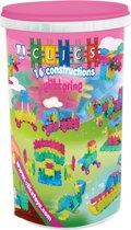 Clics Glitter Koker 16 in 1 - Constructie blokken