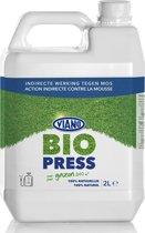 Bio-press anti- mos - 100% plantaardig, 2 liter voor 250 m²  - set van 3 stuks (=6L)