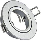 Inbouw spot GU10 - aluminium - rond armatuur - mat - zilver/zilver 85mm