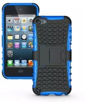 GadgetBay Shockproof blauw iPod Touch 5 6 hoesje standaard case cover