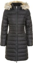 Tommy Hilfiger Tommy Jeans Essential Hooded Down Jacket - zwart maat XXS - winterjas voor dames