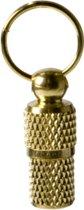 Adreskoker metaal - kat - goud - per 2