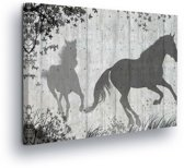 Horse Grey Canvas Print 80cm x 60cm