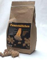 237 Bio aanmaakbolletjes 1 zak van 1 kilo met ca. 80 bolletjes