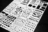 Mijn bullet journal stencils - 12 Stuks – sjablonen – handlettering – creatieve stencils - grafische stencils – hobby