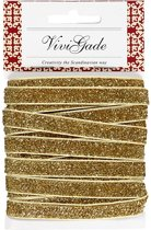 Creotime Lint 5 M 10 Mm Gouden Glitter