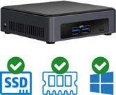 Intel NUC Compleet PC   Intel Core i5 / 7300U   16 GB DDR4   240 GB SSD   2 x HDMI   Windows 10 Pro