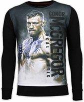 Local Fanatic Conor McGregor - Digital Rhinestone Sweater - Zwart - Maten: XXL