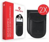 Duo-pack - Autosleutel RFID anti-diefstal beschermhoezen - Voor auto's met Keyless Go en Keyless Entry - Zwart - Draadloze autosleutels
