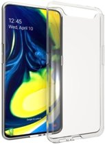 Soft TPU hoesje voor Samsung Galaxy A80 - transparant