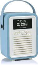 ViewQuest Retro Mini - Bluetooth Spealer met DAB+ radio - Blauw