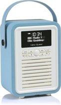 ViewQuest Retro Mini - Bluetooth Spealer met DAB+ radio - Blauw