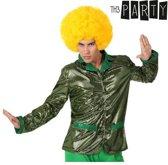 """Glanzende groene discovest voor mannen - Verkleedkleding - M/L"""
