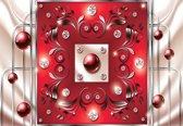 Fotobehang Red Diamond Abstract Modern | XXL - 312cm x 219cm | 130g/m2 Vlies
