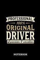 Professional Original Driver Notebook of Passion and Vocation