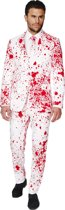 OppoSuits Bloody Harry - Mannen Kostuum - Wit - Halloween - Maat 46