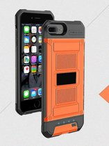 BestCases.nl Oranje Bumper batterij hoesje Apple iPhone 6 / 6s en Apple iPhone 7 en iPhone 8