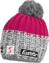 Eisbär Eisbär Focus Pompon Muts Dames Muts (Sport) - Vrouwen - roze/grijs/wit