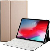 Lunso - afneembare Keyboard hoes - iPad Pro 11 inch - goud