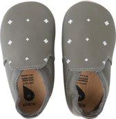 PROMO! - Bobux babyslofjes grey white plus white trims loafer - maat 18