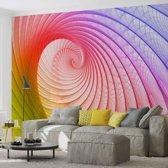 Fotobehang Abstract Swirl Colours | PANORAMIC - 250cm x 104cm | 130g/m2 Vlies
