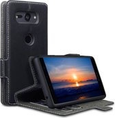Qubits - slim wallet hoes - Sony Xperia XZ2 Compact - zwart