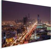 Prachtig uitzicht op de vele lichten in Riyad Plexiglas 90x60 cm - Foto print op Glas (Plexiglas wanddecoratie)