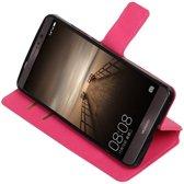 Huawei Mate 9 Roze   Cross Pattern TPU bookstyle / book case/ wallet case    WN™