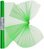 Groene organza stof op rol 40 x 200 cm