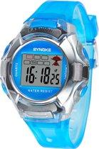 Synoke - Horloge - Siliconen - 38 mm - Blauw