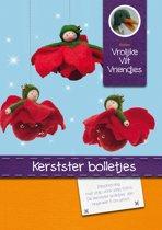 DIY wolvilt pakket: Kerstster bolletjes