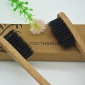 Bamboe Tandenborstel   Zacht/medium voor gevoelige tandvlees Biologisch afbreekbaar  100% organic   2 stuks   KELERINO.