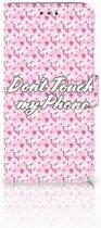 Nokia 7.1 Uniek Boekhoesje Flowers Pink DTMP