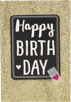 Happy Birthday Glitter Goud