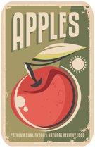 Papillon Afdruipmat met print - antislip keukenmat - apples - 50x40 cm