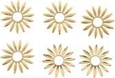 onderdelen 6pcs goudkleurig in de vorm van een bloem.