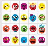 Tijdelijke tattoos van funky gezichten voor kinderen – leuk voor uitdeelzakjes voor kinderen (verpakking van 24)