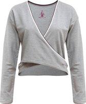"""Yoga-Wrap-Top """"Rhianna"""" - greymelange XS Loungewear shirt YOGISTAR"""