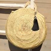 Myroundie - Roundie Bag - Ronde Ibiza Boho Tas 35 - Hand gevlochten Palmblad Tas – Maat S