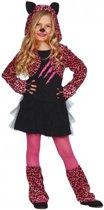 Roze luipaard carnaval / halloween jurkje voor meisjes 128-134 (7-9 jaar)