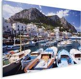 Kleurijke boten in de haven van Capri Plexiglas 60x40 cm - Foto print op Glas (Plexiglas wanddecoratie)
