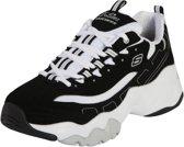 Skechers D'Lites 3.0 12956-BKW, Vrouwen, Zwart, Sneakers maat: 39 EU