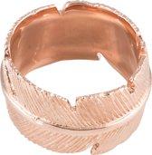 Classics&More - Zilveren Ring Rosegoudverguld met veer