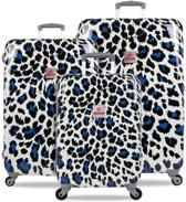 SUITSUIT Popcat Kofferset Kofferset 77 cm Wit Blauw Zwart