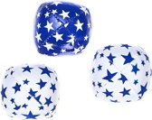 Set 3 Acrobat Juggling Balls Junior (80g.) white & blue