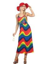 Hippie Kostuum   Vintage Jaren 60 Hippie   Vrouw   Maat 38   Carnaval kostuum   Verkleedkleding