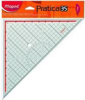 Practica driehoek voor inlijsten - 45° (hypotenusa 35 cm)